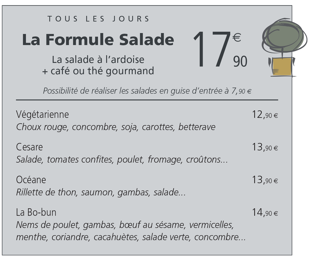 Formule salade poitiers